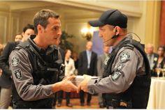 Sergio Di Zio and Enrico Colantoni in a scene from Flashpoint