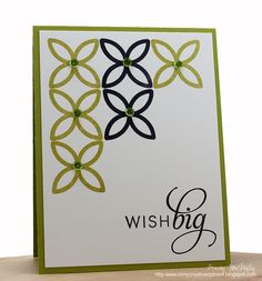 Green & black on white  jnc - another great use for the Lattice Bigz die with Stampin' Up! stamps