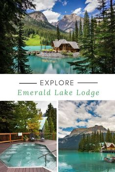 Emerald Lake Lodge is one of Canada's most dazzling mountain resorts. Set in Yoho National Park, it National Park Lodges, Parc National, Cool Places To Visit, Places To Travel, Places To Go, Dream Vacations, Vacation Spots, Mountain Vacations, Canadian Travel