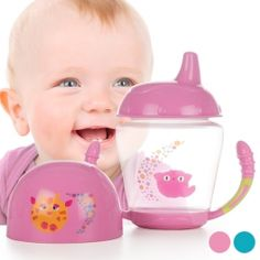 If your baby is ready for the transtion from feeding bottle to cup, the Stage 1 training glass is what you need. Specially designed for babies who have not grown their teeth yet. Baby Mickey Mouse, Baby Nails, Baby Lotion, Baby Swings, Bottle Feeding, Baby Winter, Educational Toys, Childcare, 1