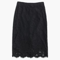 "Workdays, weekend nights, whenever (you need to look amazing)—a polished lace pencil skirt is always the answer. <ul><li>Sits at waist.</li><li>26"" long.</li><li>Falls above knee.</li><li>Nylon/cotton/viscose.</li><li>Back zip.</li><li>Lined.</li><li>Dry clean.</li><li>Import.</li></ul>"