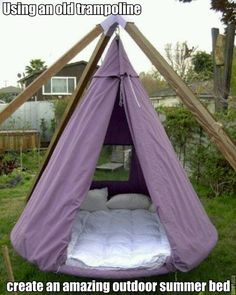 life made simple - An Outdoor Hanging Bed Kids definitely like...