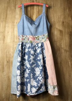 Up cycled Women's Tunic/Dress Re cycled Denim Repurposed