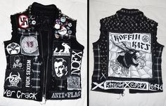 Punk vest (I have wanted one of these for a long time I think I might make one)