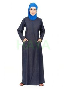 Traditional Muslim dress for women, Designer Islamic clothing for women, Women clothing in Islam Denim Abaya, Muslim Dress, Islamic Clothing, Muslim Women, Denim Jeans, Classy, Clothes For Women, Stylish, Cover
