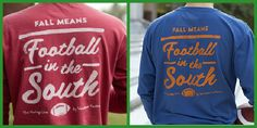 LOVING these Football in the South tees by Volunteer Traditions that just arrived at Joe's! Want to order? Give us a call at 256-517-8252