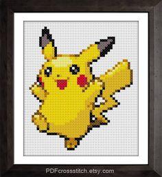 by PDFcrossstitch on DeviantArt Cross Stitching, Cross Stitch Embroidery, Embroidery Patterns, Cross Stitch Patterns, Pokemon Cross Stitch, Cross Stitch Baby, Pikachu, Cartoon Tv, Pixel Art