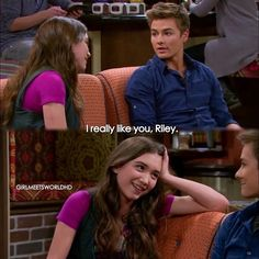"#GirlMeetsWorld 2x02 ""Girl Meets the New World"" - Riley and Lucas"