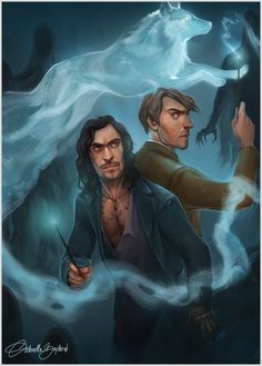 Remus Lupin and Sirius Black by g a b i