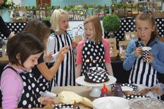 Black and white themed kids party