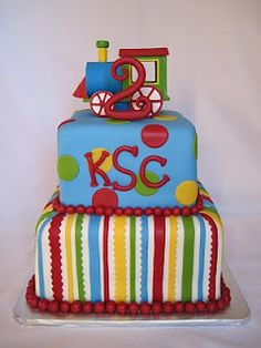 Heather's Cakes and Confections Little Boy Cakes, Cakes For Boys, Dot Cakes, Fondant Cakes, Beautiful Cakes, Amazing Cakes, Cake Decorating With Fondant, Monogram Cake, Cupcake Cookies