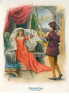 1917 Children's Shakespeare Book Illustration