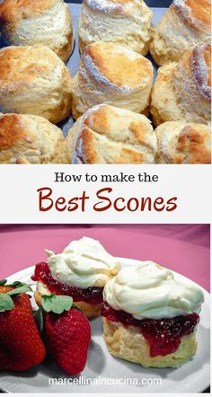 Scones This is the Best Scone recipe I have ever tried! Light and fluffy scones made easily!This is the Best Scone recipe I have ever tried! Light and fluffy scones made easily! Best English Scone Recipe, Best Scone Recipe, Recipe For Scones, Light Scone Recipe, Scones And Cream Recipes, Sweet Scones Recipe Easy, Eggless Scone Recipe, Traditional English Scones Recipe, Health Desserts