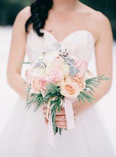 Pastel bridal bouquet ⎪ Nikki Santerre Photography⎪see more on:  http://burnettsboards.com/2015/07/pastel-pine/