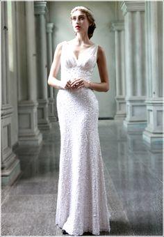 Wholesale Charming & Beautiful V-neck Sequin 80565 Evening Dress top dresses