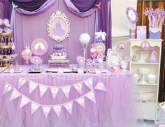 PURPLE Princess Birthday Party - COMPLETE - Disney Princess Party - Girls Birthday- Bridal Shower - Sofia Party- Sofia the First-Girls Party...