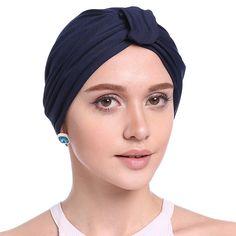Muslim Stretch Turban Hat Pre Tied Chemo Beanie