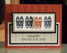 Handmade Masculine Card - 5 x 4 Stampin Up Guy Greetings - Wingtip Shoes - Birthday - Father's Day - You're a Classic Masculine Birthday Cards, Masculine Cards, Fathers Day Crafts, Happy Fathers Day, Card Tags, Homemade Cards, Stampin Up Cards, Cardmaking, Greeting Cards