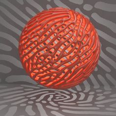 """Directional Reaction Diffusion """"inflated"""""""