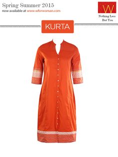 One of the best selling Kurta is now available online here  http://www.wforwoman.com/products/ss15-latest-collection/summer15-topwear/