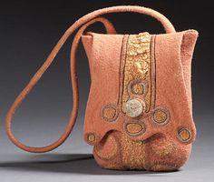 Felted bag by LISA KLAKULAK