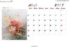 Explosión de #naturaleza #nuevos#brotes#flores #animos renovados #April #abril #Calendar #calendario #watercolor #acuarela #artist #artistas #draw #painting
