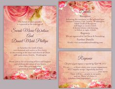 Rustic Wedding Invitation Template Download Printable Invitations