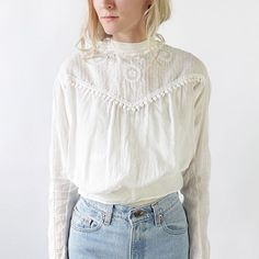 We still have a few Edwardian and Victorian (1890s!) blouses in the shop. VAUXSHOP.COM