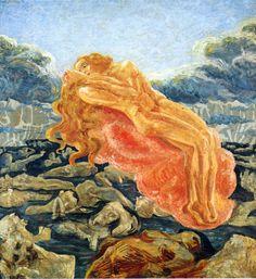 The dream (of Paolo and Francesca) by Umberto Boccioni, 1909
