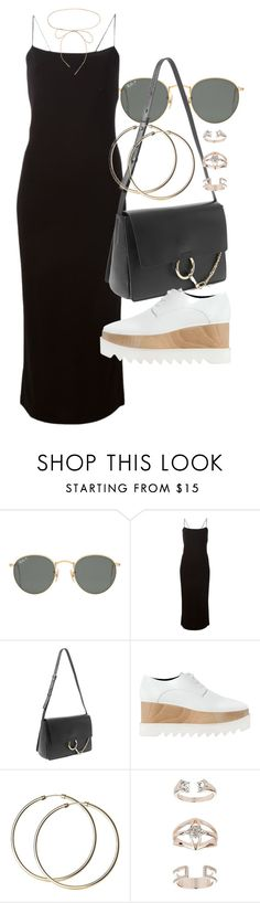 """""""Untitled #21057"""" by florencia95 ❤ liked on Polyvore featuring Ray-Ban, T By Alexander Wang, Chloé, STELLA McCARTNEY, Topshop and Lilou"""
