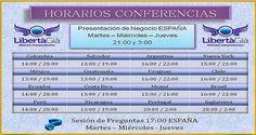 Conferencias Online.  Desde el proximo martes se reanudaran las conferencias de LibertaGia en España. Para tener acceso ingresa a nuestro blog y allí encontraras el enlace y la forma como debes hacerlo. #libertagia #conferencias #ingresos #dinero #negocios #seguro #negociosdesdecasa #negociosporinternet