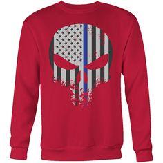 Threadrock Honor & Respect Skullcap Sweatshirt T Shirt - TL00636SW