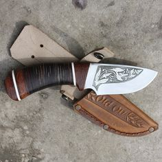 Нож охотничий в подарок Лесник OldOn knife для друга, коллеги или родственника… Fish Stencil, Homemade Weapons, Knife Handles, Knife Sheath, Survival Tools, Knives And Swords, Knife Making, Knifes, Blacksmithing
