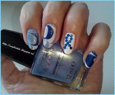 I'm raising awareness for World Parkinson's Day! This is my nail art design, Support Parkinson's day with my blue ribbon, for Nailpolis' World Parkinson's Day Nail Art Challenge. #nails #nailart