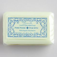 One of my favorite discoveries at WorldMarket.com: La Lavande Pear Apple Bar Soap