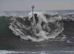 The amazing statue of Neptune (Poseidon), the Greek god of the seas! Sculpto The amazing statue of Neptune (Poseidon), the Greek god of the seas! Am Meer, Heroes Of Olympus, Greek Gods, Canary Islands, Gods And Goddesses, Greek Mythology, Percy Jackson, The Little Mermaid, World