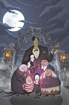 The Addams Family: The Bodies comic book will be issued in the Fall by IDW Publishing. To tie in with the release of the upcoming CG-animated The Addams Family movie, … The Addams Family, Adams Family, Gothic Horror, Gothic Art, Ghibli, Cartoon Familie, Wednesday Addams, New Yorker Cartoons, Fan Art