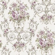 Shop for Victorian wall coverings at Steve's Blinds & Wallpaper. Browse a wide selection of wallpaper, borders and wall murals at discounted prices. Decoupage Vintage, Decoupage Paper, Vintage Paper, Victorian Wallpaper, Damask Wallpaper, Wall Wallpaper, Wallpaper Borders, Wallpaper Online, Illustration Blume