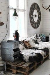 Sofá elegante feito com paletes
