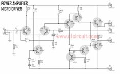 This power circuit is capable of up to DC symmetrical, Where this micro power amplifier can produce incredible power up to if properly coupled and using a good power supply is minimal to big power out, the current intended for this power is Dc Circuit, Circuit Diagram, Electronic Circuit Projects, Electronics Projects, Diy Amplifier, Abstract Iphone Wallpaper, Power Out, Electronic Schematics, Multimedia