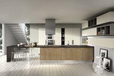 Diseño de cocina moderna para apartamentos