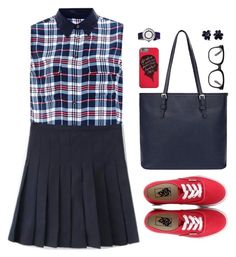 """Ecole"" by sweetpastelady ❤ liked on Polyvore featuring Equipment, Forever 21, Vans, Simplify and Hring eftir hring"