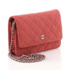 ed737140402228 Chanel Leather Cross Body Bag Chanel Model, Chanel Wallet, Leather Chain,  Red Leather