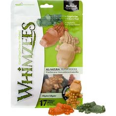 Whimzees Alligator Dog Treats, heard these are awesome for gerbils and hamsters. All natural cooked potatoes and veggies, its a hard chew