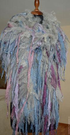 """Со-творение шарфа-боа """"Краказября Невозможный""""с радостью - Ярмарка Мастеров - ручная работа, handmade"""