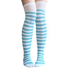 Striped Thigh Highs