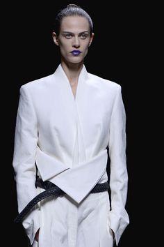 Haider Ackermann Spring 2013 PFW #loving the purple lipstick