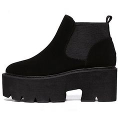 Black Round Toe Platform Chunky Ankle Boots (210 RON) ❤ liked on Polyvore featuring shoes, boots, ankle booties, shein, black booties, platform booties, black high heel booties, chunky platform booties and chunky-heel ankle boots