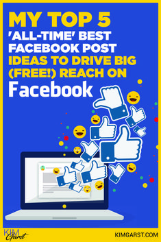 Getting free reach for your posts on Facebook is still possible. Here are the Top 5 all-time best performing post ideas! via @KimGarst Facebook Marketing Strategy, Social Media Marketing, Best Facebook, Social Media Tips, All About Time, How To Get, Posts, Reading, Contents