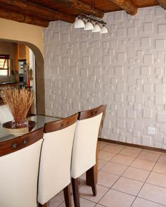 Wall Paneling for Interior - Textured Wall Panels Squares Design 3d Wall Tiles, Decorative Wall Tiles, Textured Wall Panels, 3d Wall Panels, Loft Design, Wall Design, Interior Walls, Wall Spaces, Plates On Wall